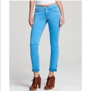 AG Stevie Skinny Crop Jeans Turquoise